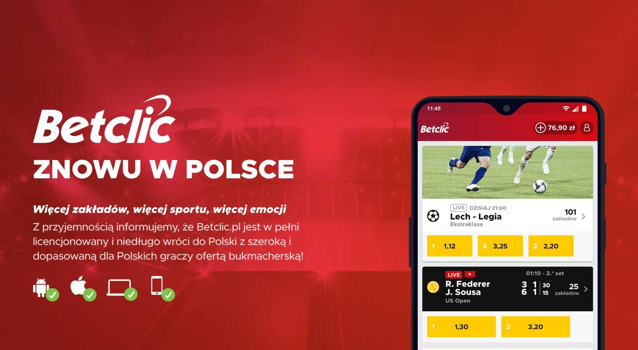 BetClic licencja w Polsce